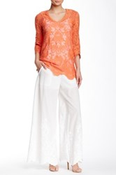 Yoana Baraschi Ibiza Embroidered Beach Pant White