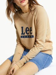Lee Logo Sweatshirt Dust Beige