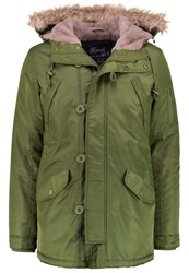 French Kick Angus Winter Coat Kaki Khaki