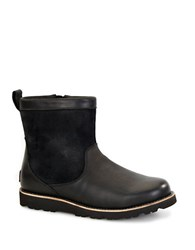Ugg Munroe Shearling Lined Leather Boots Black