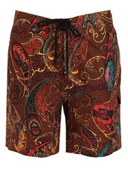 Etro Printed Paisley Bathing Suit Multicolor
