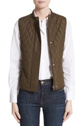 Belstaff Women's Westwell Technical Quilted Vest Faded Olive