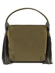 Christian Louboutin Eloise Hobo Leather Shoulder Bag Khaki