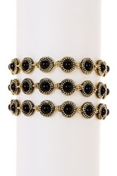 House Of Harlow Cuzco Triple Row Bracelet Gray