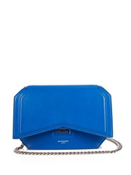 Givenchy Bow Cut Classic Leather Cross Body Bag Blue