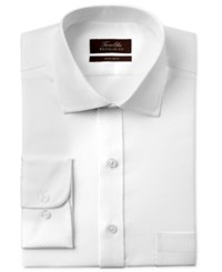 Tasso Elba Men's Classic Regular Fit White Double Diamond Dress Shirt Only At Macy's