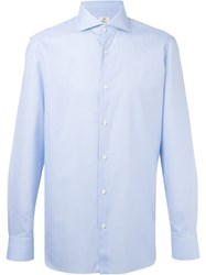 Borrelli Cuffed Sleeve Button Down Shirt Blue