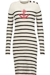 Etoile Isabel Marant Earl Intarsia Knit Sweater Dress Cream