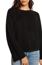 Willow And Clay 'S Cutout Ribbed Sweater Black