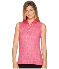 Callaway Ombre Dot Sleeveless Polo Pink Yarrow Women's Sleeveless