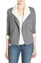 Women's Caslon Knit Jacket With Faux Shearling Lining