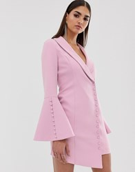 Lavish Alice Button Detail Blazer Mini Dress In Pink