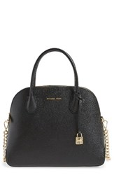Michael Michael Kors By Large Mercer Leather Dome Satchel Black