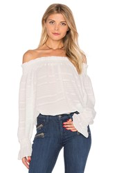 Endless Rose Long Sleeve Off The Shoulder Top White