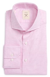 Strong Suit Men's Big And Tall Trim Fit Solid Cotton And Linen Dress Shirt Pink