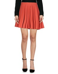 Alaia Knee Length Skirts Coral
