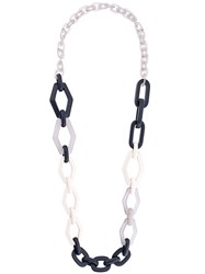 Max Mara 'S Chain Necklace Plastic Blue