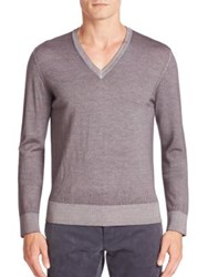 Tomas Maier Overdyed Virgin Wool Sweater Heather Grey