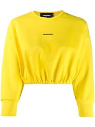Dsquared2 Contrast Logo Jumper Yellow