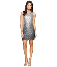 Vince Camuto Sleeveless Ombre Sequins Sheath Dress Black Silver Women's Dress
