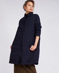 Aspesi Garment Dyed Nylon Coat Paprica Navy Blue