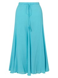 East Cheesecloth Crinkle Skirt Blue