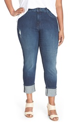 Nydj 'Loreena' Distressed Stretch Boyfriend Jeans Redding Plus Size