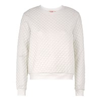 Louche Jan Textured Sweat White