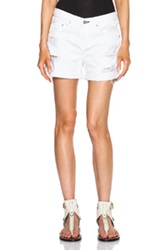 Rag And Bone Rag And Bone Jean Boyfriend Shorts In White