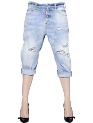 Dsquared Big Brothers Ripped Denim Jeans Light Blue