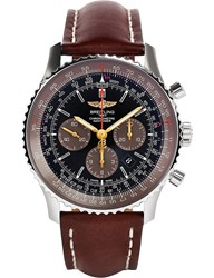 Breitling Ab0127e3 Be81443x Navitimer Automatic Stainless Steel And Leather Watch