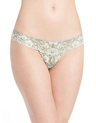 Free People Wild Roses Thong Green Combo