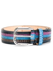 Etro Striped Belt Multicolour