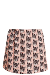 Paul And Joe Sister Cat Print Skirt Pink