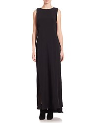 Public School Sachey Crepe Overlay Maxi Dress Black