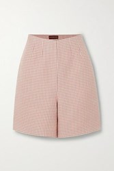 Alexachung Houndstooth Woven Shorts Pink