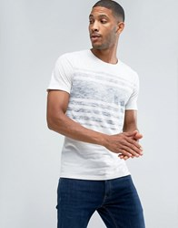 Only And Sons T Shirt With Reverse Stripe Print Cloud Dancer White