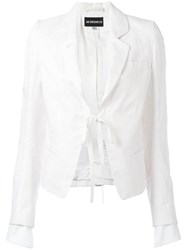 Ann Demeulemeester Fitted Jacket Women Cotton Hemp Linen Flax Rayon 36 White