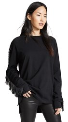 Baja East Beaded Fringe Long Sleeve Shirt Embassy