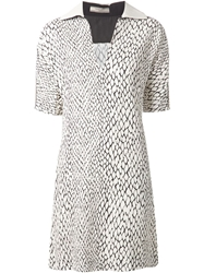 Bouchra Jarrar Python Print Shift Dress White
