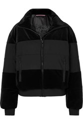 Fusalp Cooler Quilted Paneled Velvet Ski Jacket Black