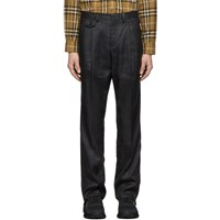 Burberry Black Linen Tailored Trousers