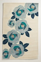 Anthropologie In Bloom Rug Mint