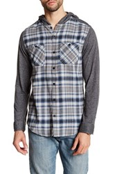 Burnside Regular Fit Plaid Shirt Blue