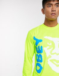 Obey The Creeper Ii Long Sleeve Top In Green