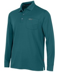 Greg Norman For Tasso Elba Big And Tall 5 Iron Long Sleeve Performance Polo Dragonfly Blue