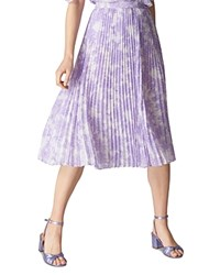 Whistles Batik Lily Pleated Skirt Lilac