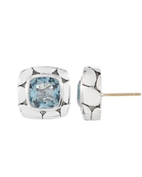 John Hardy Blue Topaz Square Stud Earrings