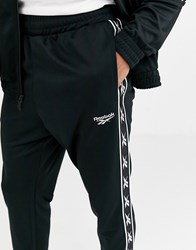 Reebok Joggers With Vector Taping In Black