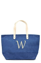 Cathy's Concepts 'Nantucket' Personalized Jute Tote Blue Blue W